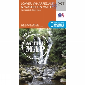 Ordnance Survey Active Explorer Map 297 Lower Wharfedale and Washburn Valley