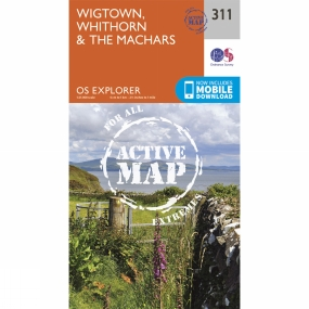 Ordnance Survey Active Explorer Map 311 Wigtown, Whithorn and The Machars