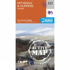 Ordnance Survey Active Explorer Map 321 Nithsdale and Dumfries