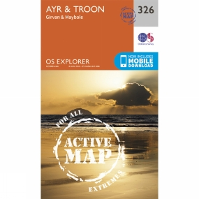 Ordnance Survey Active Explorer Map 326 Ayr and Troon