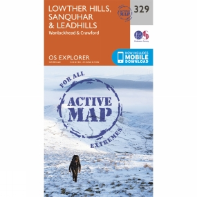 Ordnance Survey Active Explorer Map 329 Lowther Hills, Sanquhar and Leadhills