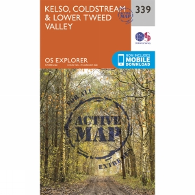 Ordnance Survey Active Explorer Map 339 Kelso, Coldstream and Lower Tweed Valley