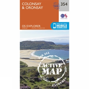 Ordnance Survey Active Explorer Map 354 Colonsay and Oronsay