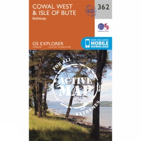 Ordnance Survey Active Explorer Map 362 Cowal West and Isle of Bute