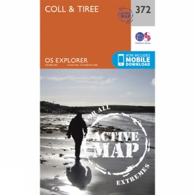 Ordnance Survey Active Explorer Map 372 Coll and Tiree