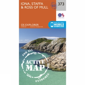 Ordnance Survey Active Explorer Map 373 Iona, Staffa and Ross of Mull