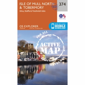 Ordnance Survey Active Explorer Map 374 Isle of Mull North and Tobermory
