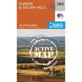 Ordnance Survey Active Explorer Map 380 Dundee and Sidlaw Hills