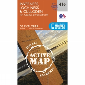 Ordnance Survey Active Explorer Map 416 Inverness, Loch Ness and Culloden