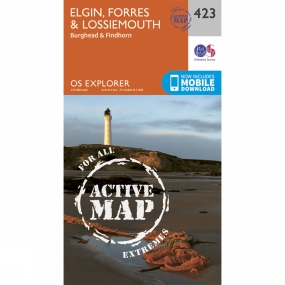 Ordnance Survey Active Explorer Map 423 Elgin, Forres and Lossiemouth