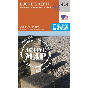 Ordnance Survey Active Explorer Map 424 Buckie and Keith