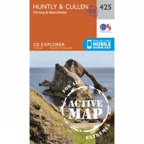 Ordnance Survey Active Explorer Map 425 Huntly and Cullen