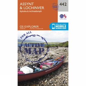 Ordnance Survey Active Explorer Map 442 Assynt and Lochinver