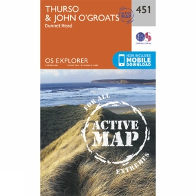 Active Explorer Map 451 Thurso and John o Groats