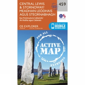 Ordnance Survey Active Explorer Map 459 Central Lewis and Stornoway