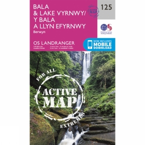 Active Landranger Map 125 Bala and Lake Vyrnwy