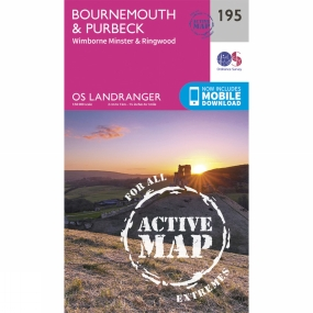 Ordnance Survey Active Landranger Map 195 Bournemouth and Purbeck