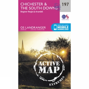 Ordnance Survey Active Landranger Map 197 Chichester and The South Downs