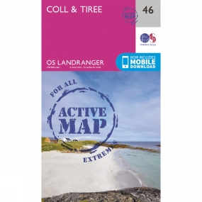 Ordnance Survey Active Landranger Map 46 Coll and Tiree
