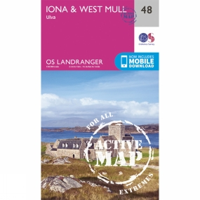 Active Landranger Map 48 Iona and West Mull