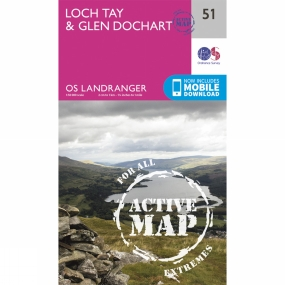 Active Landranger Map 51 Loch Tay and Glen Dochart