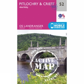 Ordnance Survey Active Landranger Map 52 Pitlochry and Crieff
