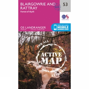 Ordnance Survey Active Landranger Map 53 Blairgowrie and Rattray