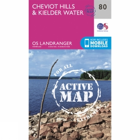 Active Landranger Map 80 Cheviot Hills and Kielder Water