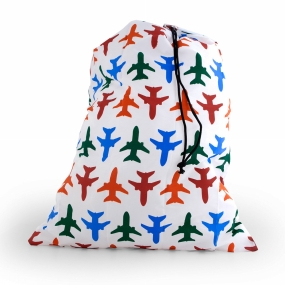 Kikkerland Planes Travel Laundry Bag