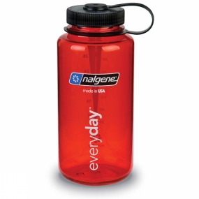 Nalgene Nalgene Wide Mouth Tritan Bottle 1 Ltr Red