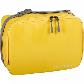 Vaude Chic and spacious travel wash bag for selective travelers. This easy-care Sula Washbag is made of PVC-free tarpaulin can be used either hanging or set down thanks to a stiffened lid. It features a toothbrush holder, mirror and enough space for all of your necessities with its large main compartment, an additional front compartment and the sensibly divided inner compartments.And if your shampoo or shower gel accidentally leaks in the bag, it can easily be washed under running water. The handle has a buckle that comes in handy for attaching a towel or clothing while showering, for example.