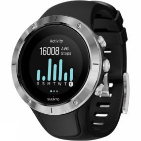 suunto spartan trainer wrist hr metal bezel watch black/silver bezel