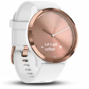 Garmin Vivomove HR Hybrid Smartwatch Rose Gold/White thumbnail