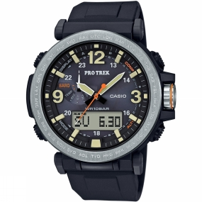 casio protrek sports watch prg6001er black/silver