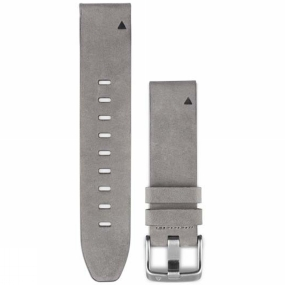 garmin quickfit 20 watch band grey suede leather