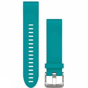 garmin quickfit 20 watch band turquoise silicone