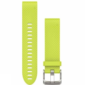 garmin quickfit 20 watch band amp yellow silicone