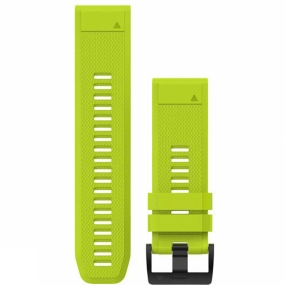 garmin quickfit 26 watch band amp yellow silicone