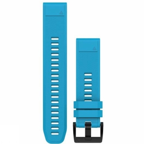 garmin quickfit 22 watch band cirrus blue silicone