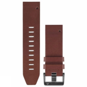 garmin quickfit 22 watch band brown leather