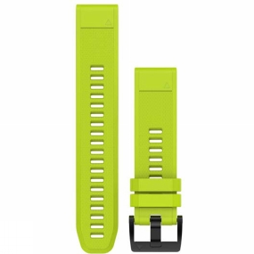 garmin quickfit 22 watch band amp yellow silicone