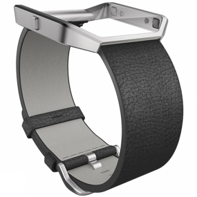 Fitbit Blaze Leather Band & Frame Black