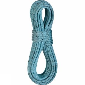 Edelrid Edelrid Anniversary Pro Dry DT 9.7mm Rope 80m with Caddy Light Rope Bag Icemint