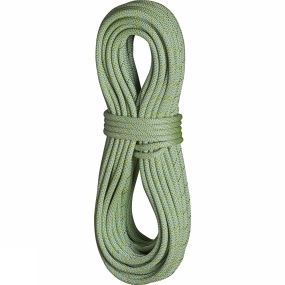 Edelrid Edelrid Anniversary DT 9.7mm Rope 80m with Caddy Light Rope Bag Lime