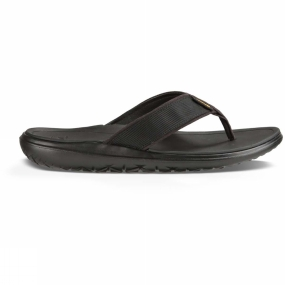 Teva Teva Mens Terra-Float Flip Flop Black Solid