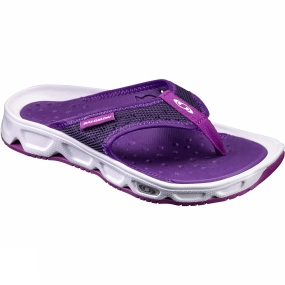 Salomon Salomon Womens RX Break Flip Flop White/Acai/Grape Juice