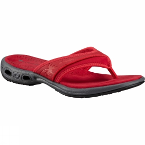 Columbia Womens Kambo Vent Flip Sandal Candy Apple/Red Camellia