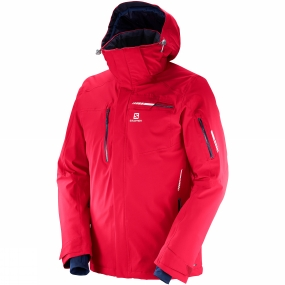 Salomon Salomon Mens Brilliant Jacket Barbados Cherry
