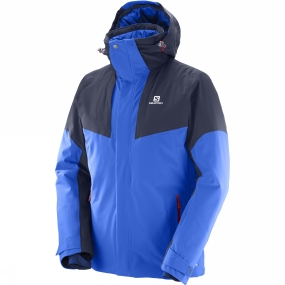 Salomon Salomon Mens Icerocket Jacket Surf the Web/Night Sky