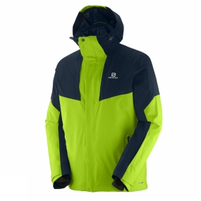 Salomon Salomon Mens Icerocket Jacket Granny Green/Big Blue-X